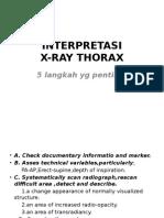 Interpretasi X-ray Thorax.