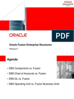 Fusion Enterprise Structures Versus EBS 1