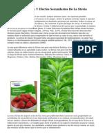 Contraindicaciones Y Efectos Secundarios De La Stevia