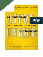 122920855 Langue Francaise Le Nouveau Livre Unique de Francais 02 CE1 CE2 CM1 CM2