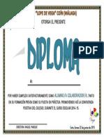 Diploma Alumnado Colaborador
