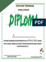 Diploma Patrulla verde