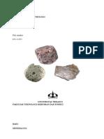 Rangkuman Mineralogi Dan Petrologi