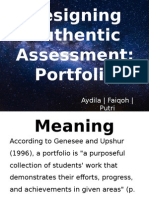 Designing Authentic Assessment Edited Starry