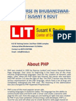 PHP Course in Bhubaneswar-LIT Susant K Rout