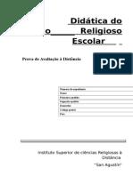 Didática Do Ensino Religioso Escolar