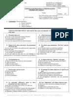 Examen Lenguaje 1º Medio