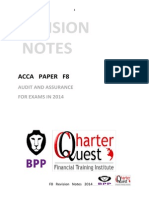 Acca f8 Revision Notes
