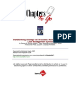 Transforming Strategy into Success How to Implement a Lean Management System