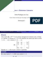 c1 Matrizes Sistemas Lineares