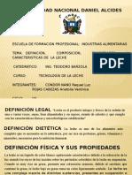 PROPIEDADES DE LA LECHE 2015.pptx