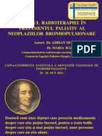 Dr. Adrian Moga Aportul Radioterapiei in Tratamentul Paliativ Al Neoplaziilor Bronhopulmonare