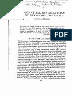 Pragmatism Pragmaticism and Economic Metho