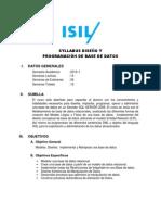Syllabus - Diseño y Programación de Base de Datos - 2013-I