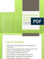 Accounting for Musyarakah Financing
