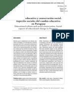REFORMA EDUCATIVA Y CONSERVACION SOCIAL - LUIS ORTIZ SANDOVAL - PORTALGUARANI