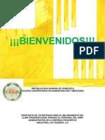PROPUESTA DE ESTRATEGIAS DE COMUNICACIÓN PARA EL MEJORAMIENTO DEL CLIMA ORGANIZACIONAL DIRIGIDO  AL PERSONAL DEL ÁREA ADMINISTRATIVA DE LA  EMPRESA FRIGORÍFICO INDUSTRIAL  LAS TEJERÍAS, S.A.
