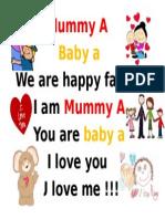mummy A baby a