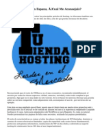 Alojamiento web En Espana, ¿Cual Me Aconsejais?