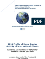 2015 Profle of Home Buying by International Clients