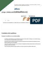 Cuidados Del Audífono _ Centro Del Audífono