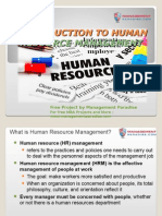 PPT on Introduction to Human Resource Management