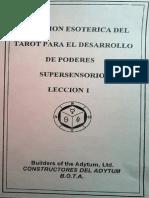 Extensión esotérica del Tarot para el desarrollo psíquico (lecciones 1-10)