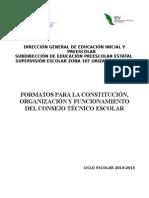 Formato Actas Ctce 2014-2015 CONSEJO TECNICO ESCOLAR