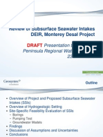 MPRWA DEIR Review 2 Subsurface Intakes