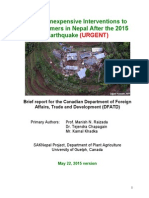 nepal earthquake plan to help farmers june23 2015 11am english captions small