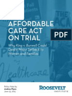 The Affordable Care Act on Trial