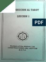Introduccion al TAROT BOTA