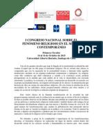Primera Circular Congreso Religión 2015 - Prorroga Envío de Resumenes