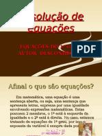 EQUAÇÕES DO 1° GRAU AUTOR DESCONHECIDO