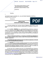 Greenlee v. Southwest Health Systems, Inc. - Document No. 3