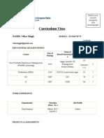 CV 2014-16 Format