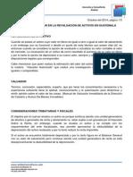 Revaluacion de Activos en Guatemala, Aspectos a Considerar
