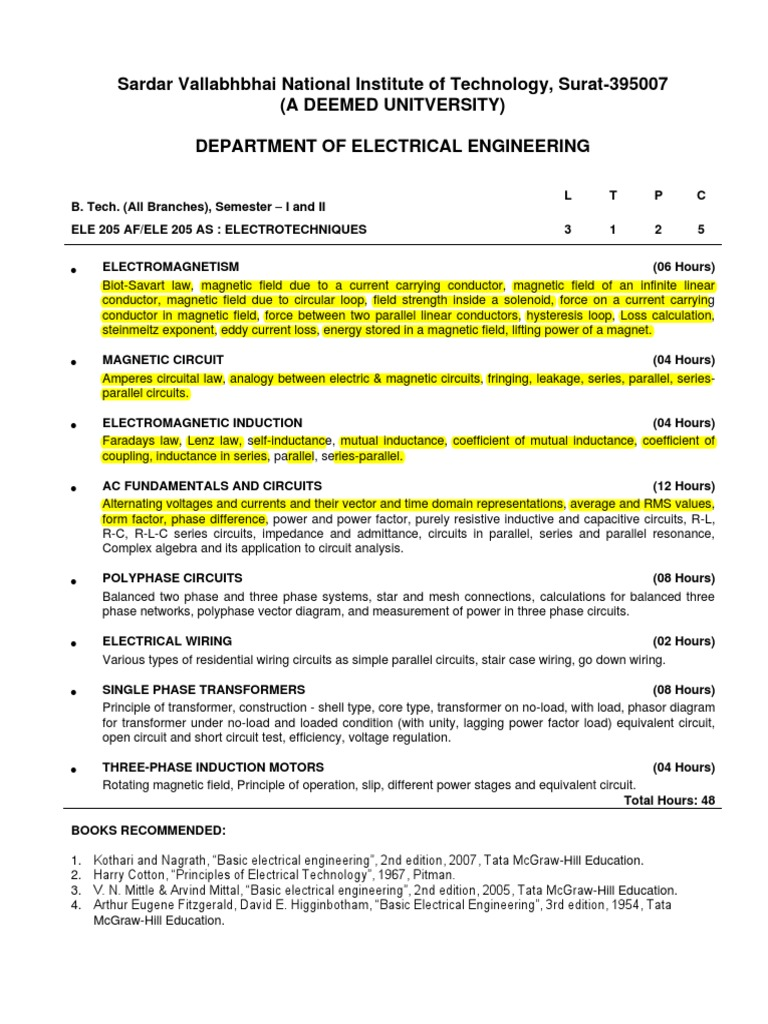 B Tech I Et Inductance Series And Parallel Circuits Factor In Electrical Wiring Installation Technology