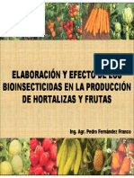 Elaboración de bioinsecticidas