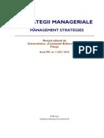 revista strategii manageriale
