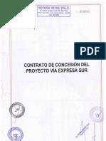 Contrato de Concesion via Expresa Sur