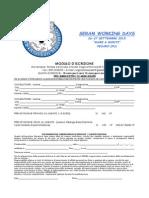 Modulo d'Iscrizione Mare&Monti 2015