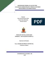 Trabalho Instuições de Direito II - Contratos