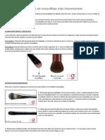 10 Pinceles y Brochas de Maquillaje Más Importantes