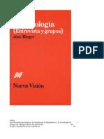 Temas de Psicología, Entrevistas y Grupos