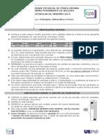 Português - Matématica - Física - UEPG 2014