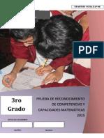 Propuesta de Examen de Matematica 3º UGEL 03 Ccesa007