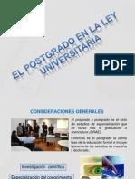 Estudios de Postgrado en El Perú