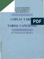 Frenk, Margit - Cancionero Folklorico Mexicano - Coplas Varias - Vol. IV