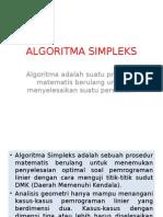 6. ALGORITMA SIMPLEKS